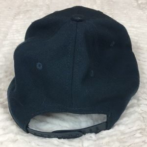 Nike Accessories - Nike True Wool Snapback Hat Spell Out Swoosh Navy